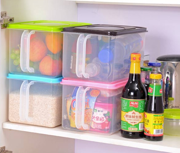 kitchen preservation box creative refrigerator storage container with lid candy color jewelry box office and food box(China (Mainland))