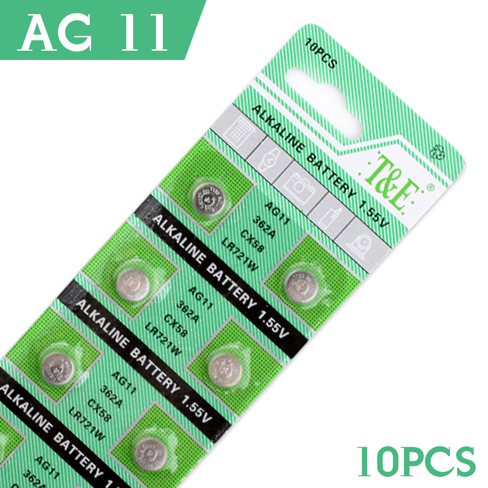For watch Button Battery 10 Pcs AG11 362 SR721SW SR58 TR721 Alkaline Coin Cell Button Batteries For Watch EE6212(China (Mainland))