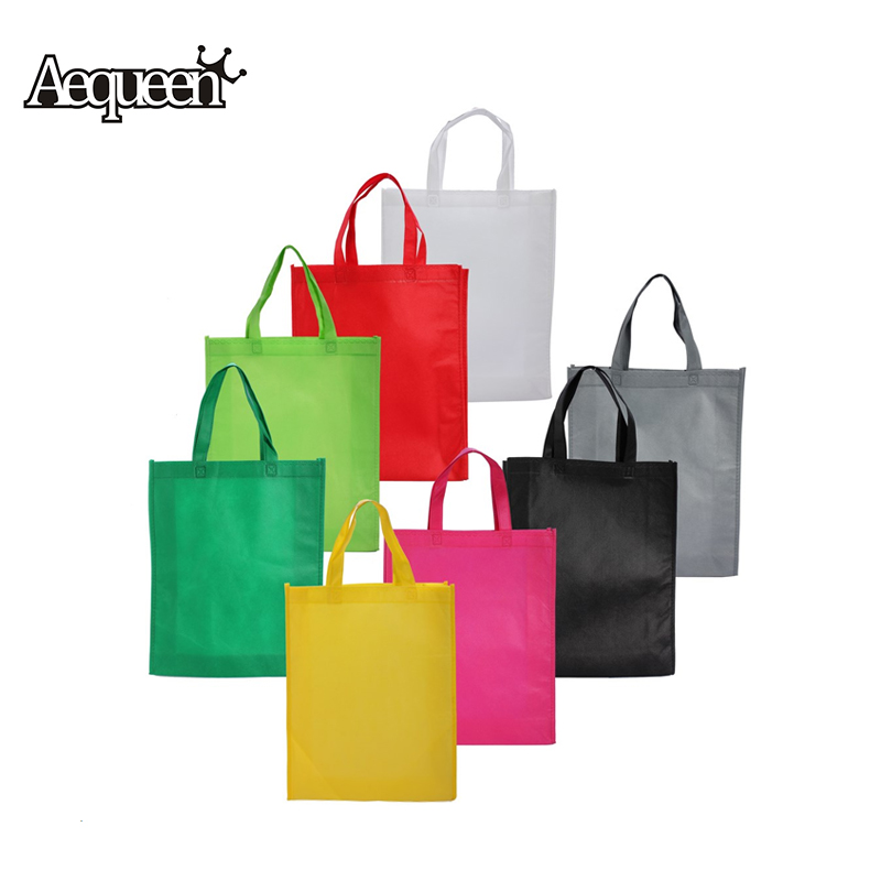 Bag Wholesale Eco Shopping Bag Reusable Cloth Fabric Grocery Packing Recyclable Hight Simple Design Healthy Tote Handbag Trendy(China (Mainland))