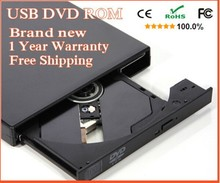 DVD-ROM USB 2.0 External DVD ROM Drive USB DVD CD Drive Optical Drive External Player DVD Reader free shipping