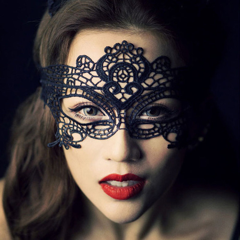 1 x Vampire Diaries style Cat Catwoman Mask Woman Costume Sexy Lace Masquerade Ball 2 Colors(China (Mainland))