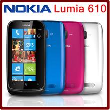 610 Unlocked Original Nokia Lumia 610 WIFI Bluetooth 8GB ROM 5MP 3G Windows Mobile Refurbished Mobile Phone Free Shipping(China (Mainland))