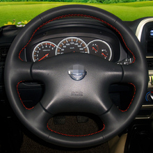 Hand-stitched Leather Steering Wheel Cover for for Nissan Almera N16 Pathfinder Primera Paladin Old X-Trail XTrail 2001-2006