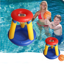 New Water Toys Inflatable Swimming Basketball Stand Children Grass Basketball Hoop Kids Summer Swimming Pool pitching Game Toys(China (Mainland))