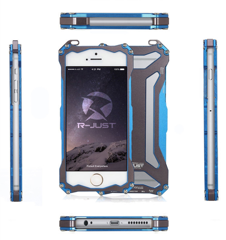 R-just ultra-thin full metal shell iphone6 plus5.5inch Aluminum back cover case plus outdoor climbing - Sweet Technology store