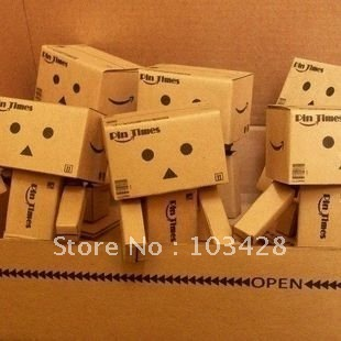 With Track Number-Lovely Danboard Danbo Doll Mini Figure Toy Assembled Danbo Model Cute Cartnoon Toy 8cm Height, Free Shipping