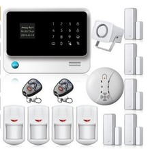 freeshipping by DHL WIFI Gsm alarm systems security WIFI + GSM + GPRS ,Wifi automation GSM Alarm System free shipping