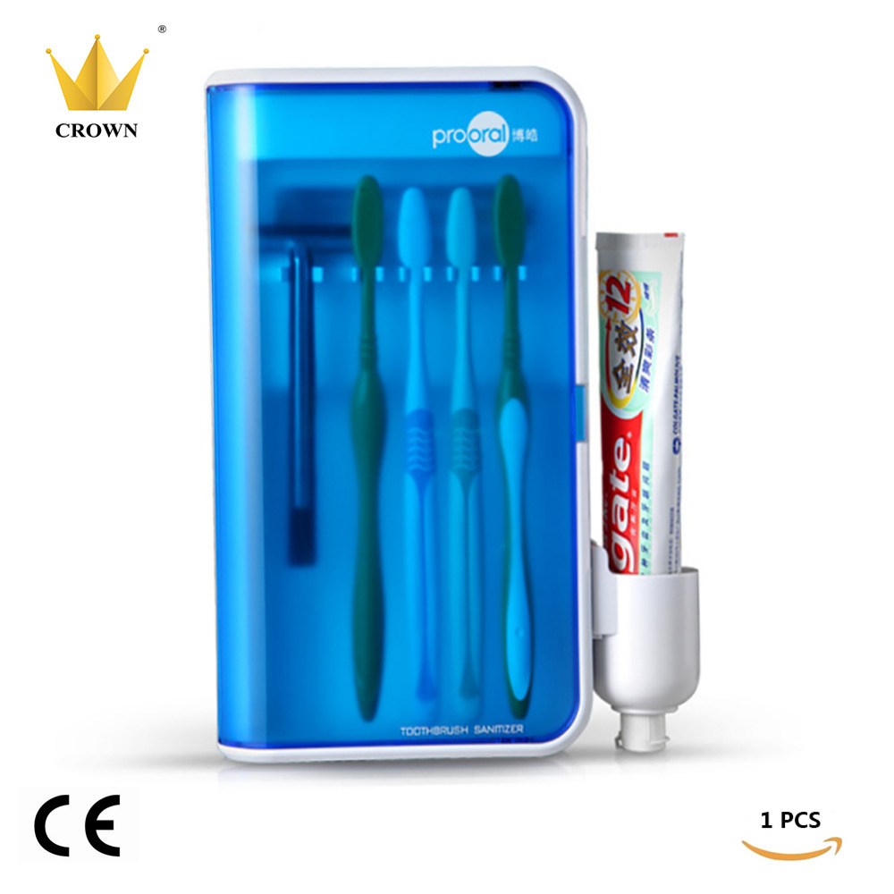 1BOX/lot UV Box Toothbrush Sanitizer Sterilization Holder Cleaner Home Health Dental Care Toothbrush Sterilize Storage Case