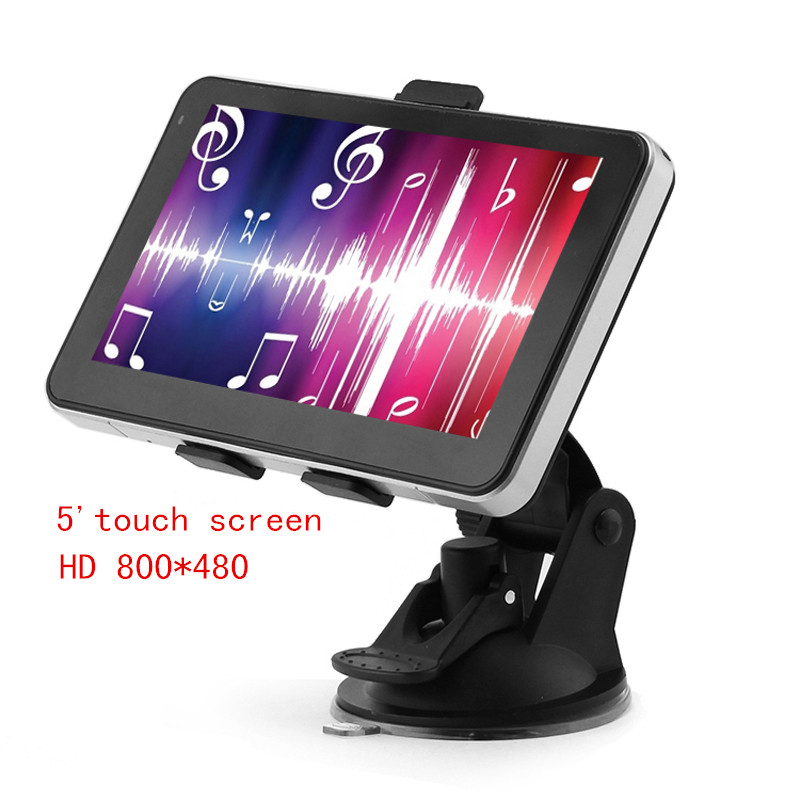 "5"" touch screen HD 800*480128M/4GB bluetooth av-in FM transmitter free maps car gps navigator(China (Mainland))"