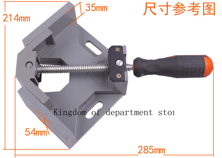 Single Handle 90 Degree Right Angle Clamp Woodworking Clip DIY Photo Frame Aquarium Furniture Fixed tools