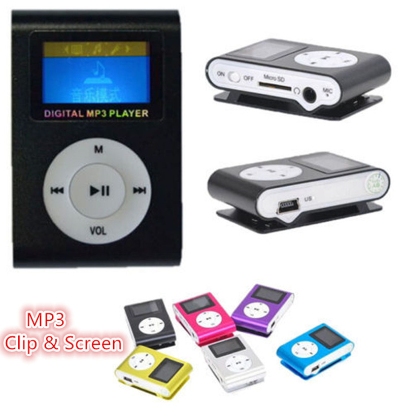 Free shipping MP3 Mini clip Sport Music Player With Screen & Recording no Micro TF/SD card Slot Free Music Downloads Mp3 Players(China (Mainland))