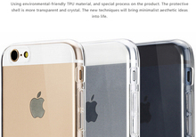 """0.3mm Ultra thin TPU Clear Case for iphone 6 Plus 5.5 """" Slim Phone Back Cover for iphone6 Transparent Black 10pcs/lot"""