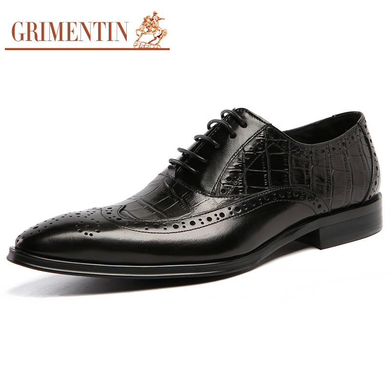 grimentin mens luxury dress shoes genuine leather pointed