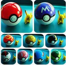 2016 13Styles 1Pcs Pokeball + 1pcs Free Random Pokemon Figures Anime Action Figures Toys