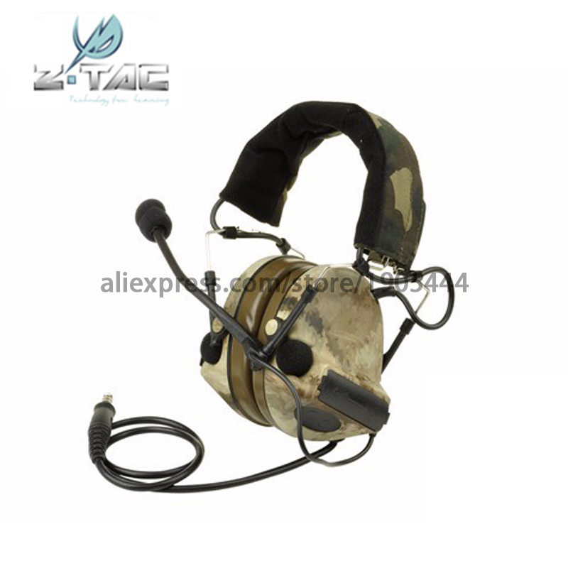 (Z 041-A-tacs)Earphone Element tactical zComtac II Headset Camouflage Limited Edition Tactical Headset