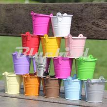 10Pcs/Lot Mini Cute Chocolate Candy Bucket Keg Wedding Birthday Party Pails Bag Gift Toys For Kids(China (Mainland))