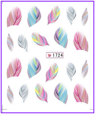 Feather  Water Transfers Stickers
