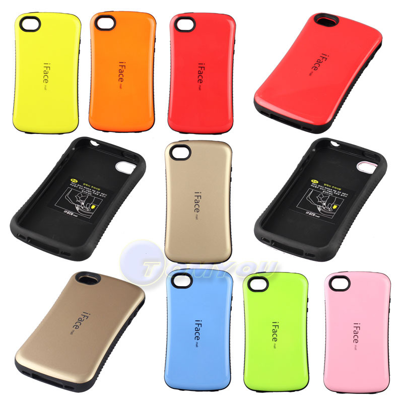 New Arrival Fashion Korean Style iFace Case For iPhone 4 4S 5 5S SE Durable Korea Candy Color Hard Back Cover 10 Colors()
