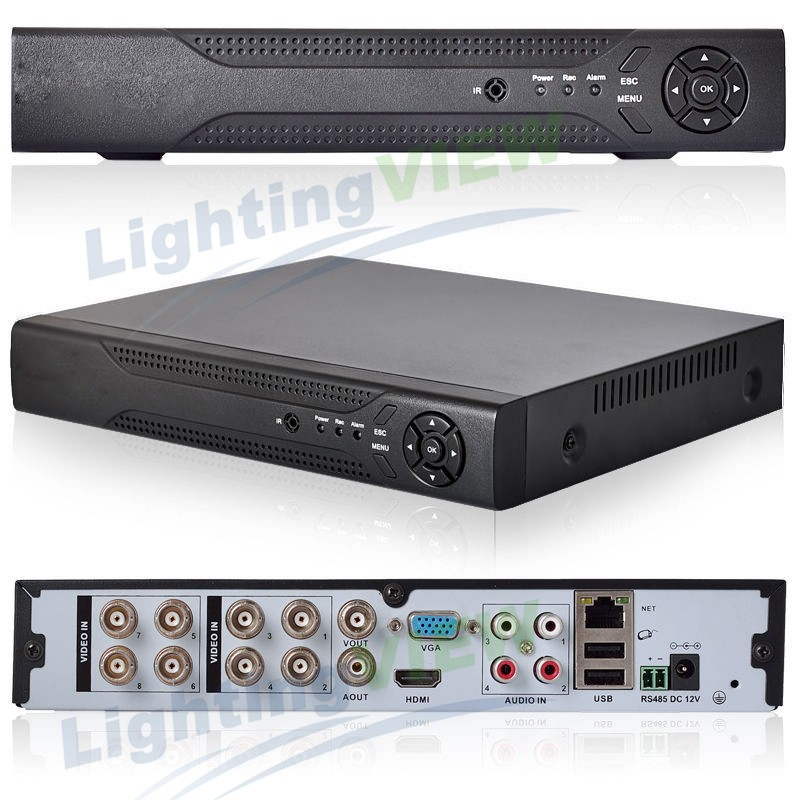 Fast Express 8 channel full AHD 960H D1 Real time HDMI 1080P Hybrid NVR for ip camera P2P CCTV DVR Recorder SK-006