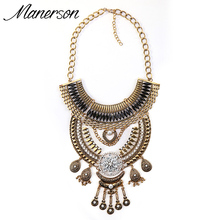 Buy 2016 New Fashion ZA Silver Necklace Pendant Statement Vintage Collar Women Chunky Antique Choker Gold Maxi Collier Femme Jewelry for $8.36 in AliExpress store