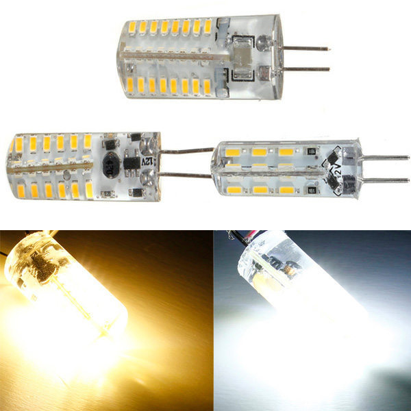 Big Promotion G4 3014 SMD 24/48/64 LED 2W 3W 5W Pure White Warm White Crystal Silicone SpotLight Cabinet Lamp Bulb 12V/220V<br><br>Aliexpress