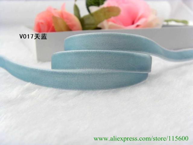 "support small buyer free shipping ,100% nylon velvet ribbon 3/8"" 1cm width,MOQ is 50yards(China (Mainland))"