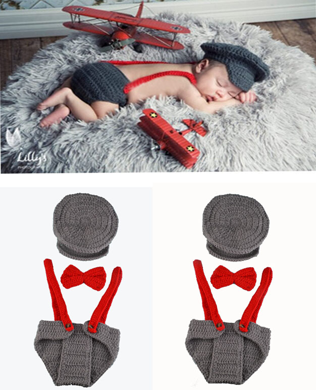 2016 Newborns Photo Props Infant Knitting Outfit Crochet Baby Boy Gentleman Hat Bow Tie Pants Set Knitted Baby Hat s MZS-15039(China (Mainland))