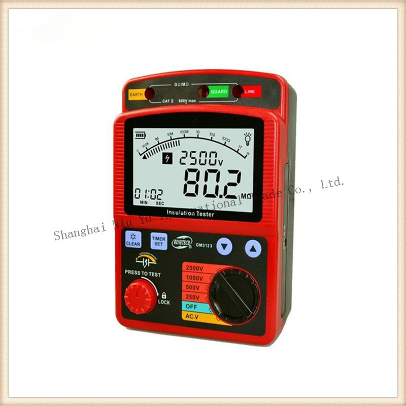 Insulation Tester 4 style Megger range 250V/500V/1000V/2500V Resistance tester Shipping by EMS or DHL<br><br>Aliexpress