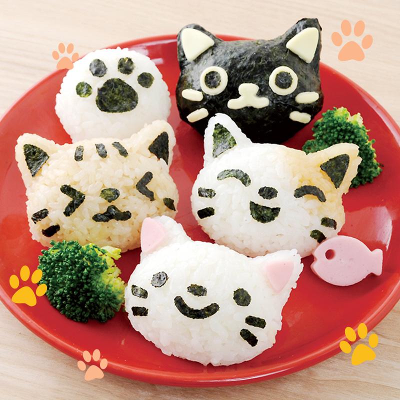 작은 고양이 다이 세트 만화 귀여운 아기 쌀과 야채 롤 초밥 ...