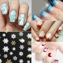 Snowflakes Snowman 3D Nail Art Stickers Decals Girl Fingernail Accessories 1QA9 2ODJ