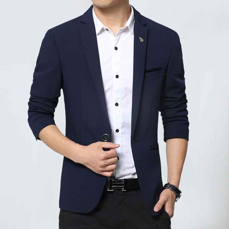 New Design Mens Brand Blazer Korean slim fit cotton Coats Suit Cardigan long sleeve Wedding dress Jacket Male Suite(China (Mainland))