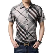 new arrive men shirt short sleeve shirt casual shirts oblique striped