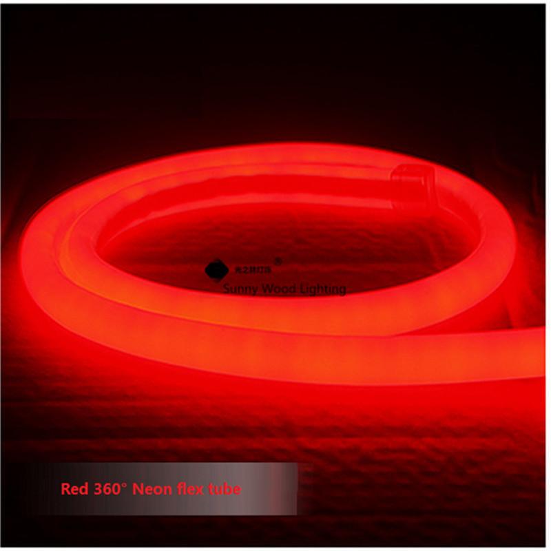 DHL Free shipping 10m/roll round 16mm diamter 360 degree lighting Neon flex tube ,220V 2835SMD 120led/m neon tube(China (Mainland))