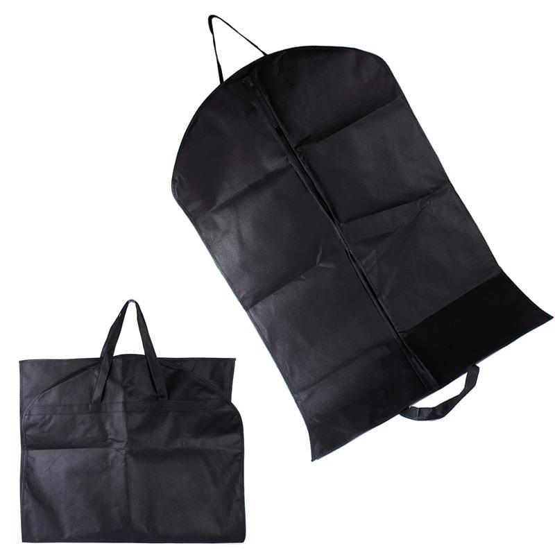 Portable Black Suit Dress Coat Garment Storage Carrier Bag Cover Hanger Protector Tool #69133(China (Mainland))