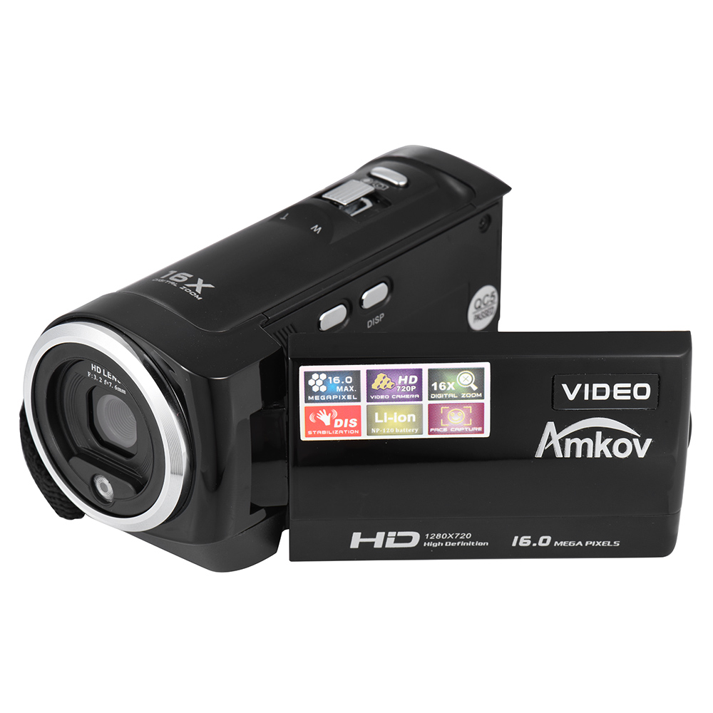 AMKOV DV162 720P Digital Video Camera 2.7 Inch LCD Screen 16MP 16X Digital Zoom Anti-shake Mini Video Camcorder DV Camera(China (Mainland))