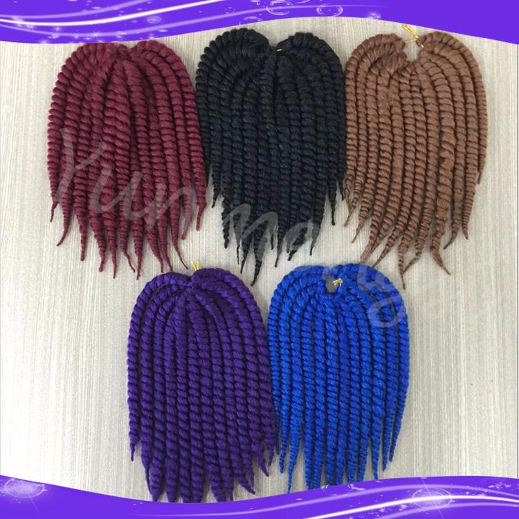 Havana Mambo Twist Crochet Braid Hair Synthetic Ombre Kanekalon Kinky Marley Twists Braiding Hair Extension09