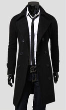 Mens Trench Coat 2017 New Fashion Designer Men Long Coat Autumn Winter Double-breasted Windproof Slim Trench Coat Men Plus Size(China)