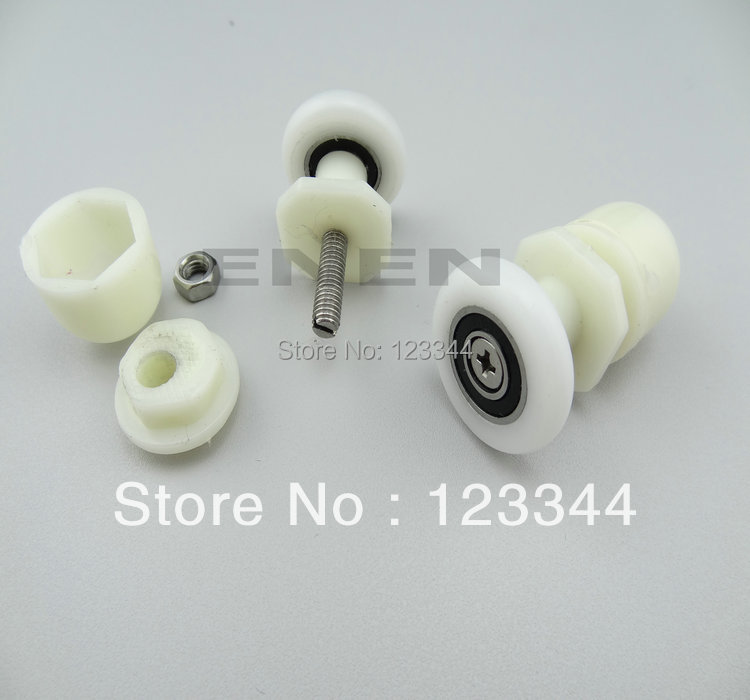 Shower room accessories abs plastic pulley wheel round individual housing wheels shower room roller<br><br>Aliexpress