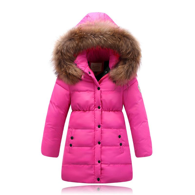 Girls Womens Winter Hooded Jacket Fur