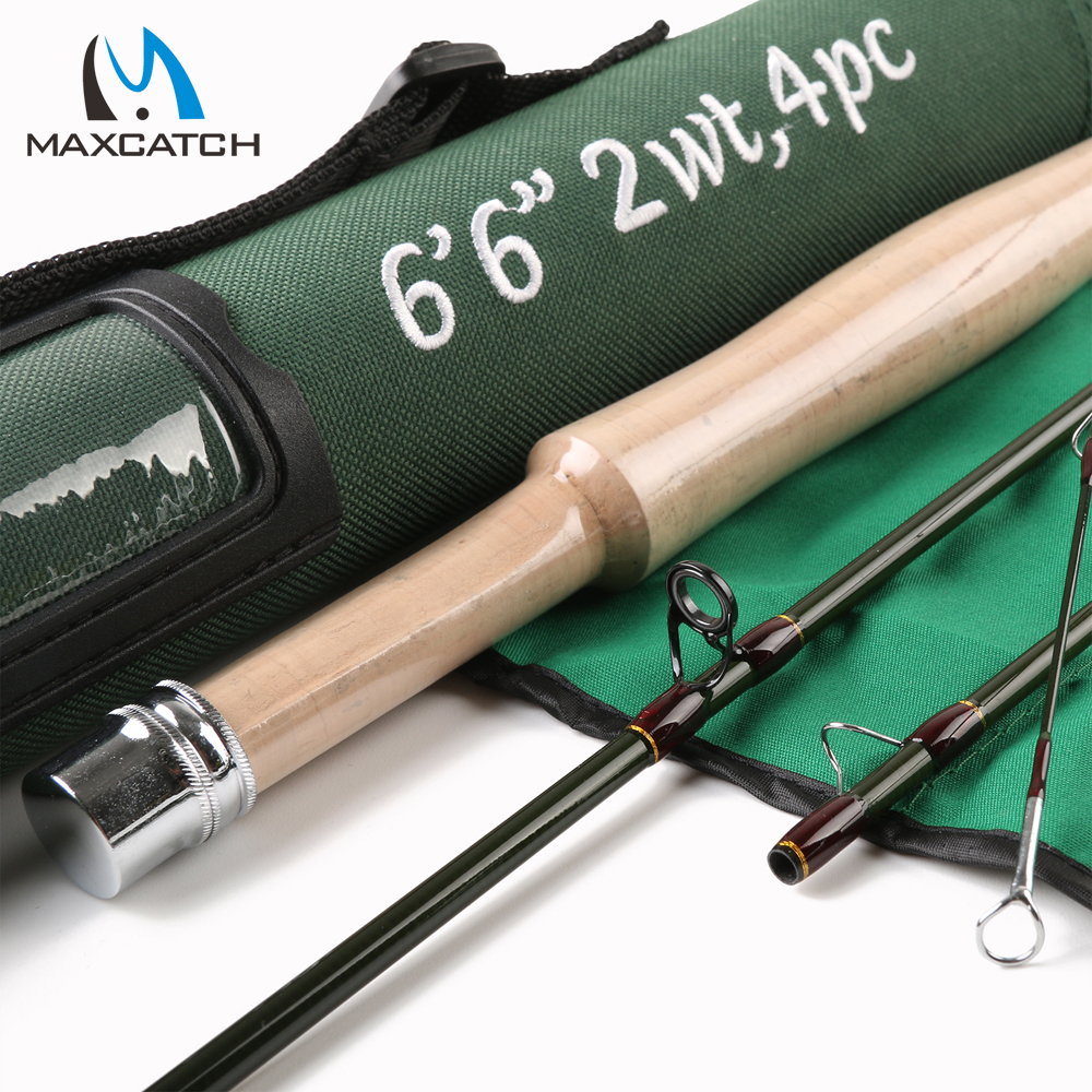 Maxcatch fly fishing rod 6 6ft 2wt fast action with for Shipping tubes for fishing rods
