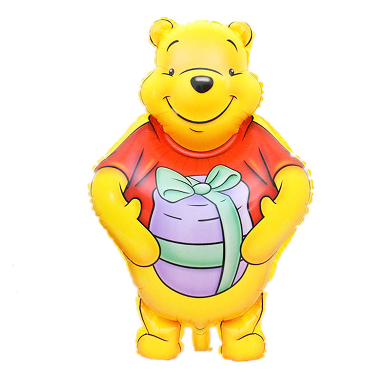 Lucky 30pcs/lot 83*48cm Cartoon Winnie Bear Balloon Mylar Helium Ballon The Poohs Foil Balloons For Kids Birthday Party Supplies(China (Mainland))