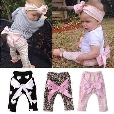 Новорожденных девочек дети весна осень гарем PP брюки с бантом брюки брюки свободного покроя одежда