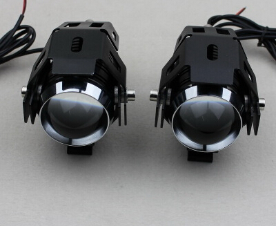Free shipping for LIGHTING modified motorcycle install fog lights super bright  LED side convex lens fisheye Spotlight<br><br>Aliexpress