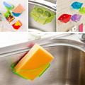 1Piece Hot Sale Bathroom Shelf Super Suction Family Sucker Hooks For Sponge Kitchen Accessories Home Storage