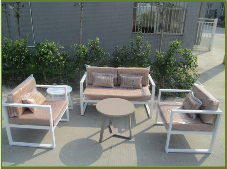 Buy Popular White Garden Sofa Set Outdoor Metal Sofa Set Aluminium Hotel Sofa