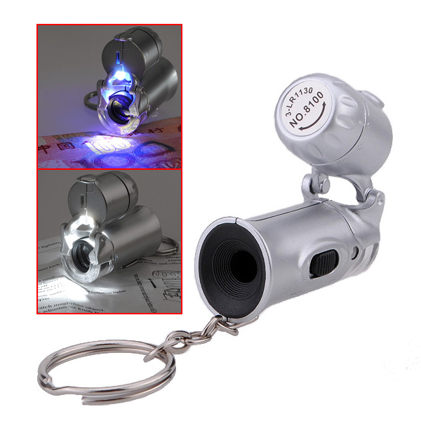 Brand New Mini 60X Jewelers Eye Loupe Microscope Magnifier with LED Fluorescence Lights