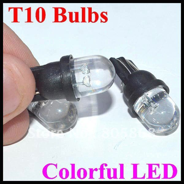 Amazing Flash!!!!! Free shipping + wholesale  Auto LED Lighting,car led light T10 Bulbs Colorful LED Wedge Strobe Light