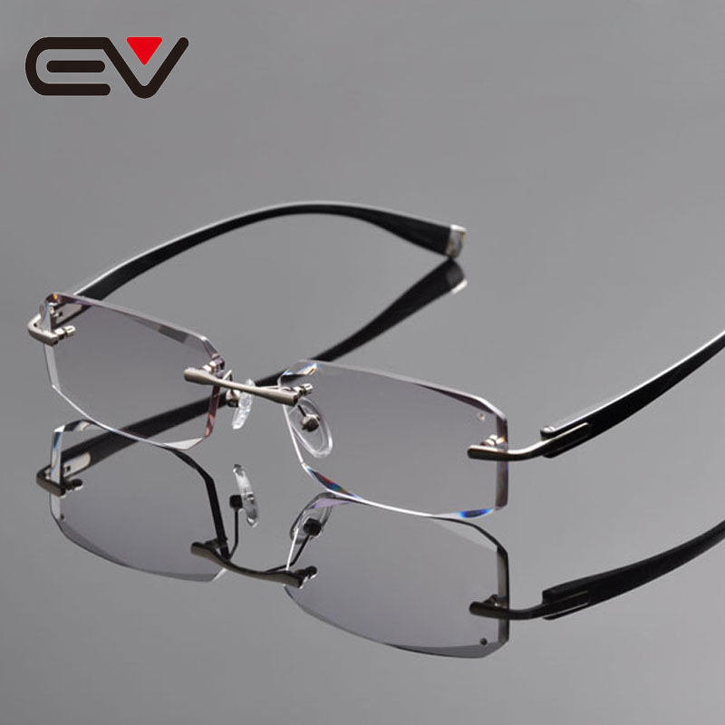 Rimless Glasses Titanium : 2016 New Elite Brand Pure Titanium Rimless Eyeglasses ...