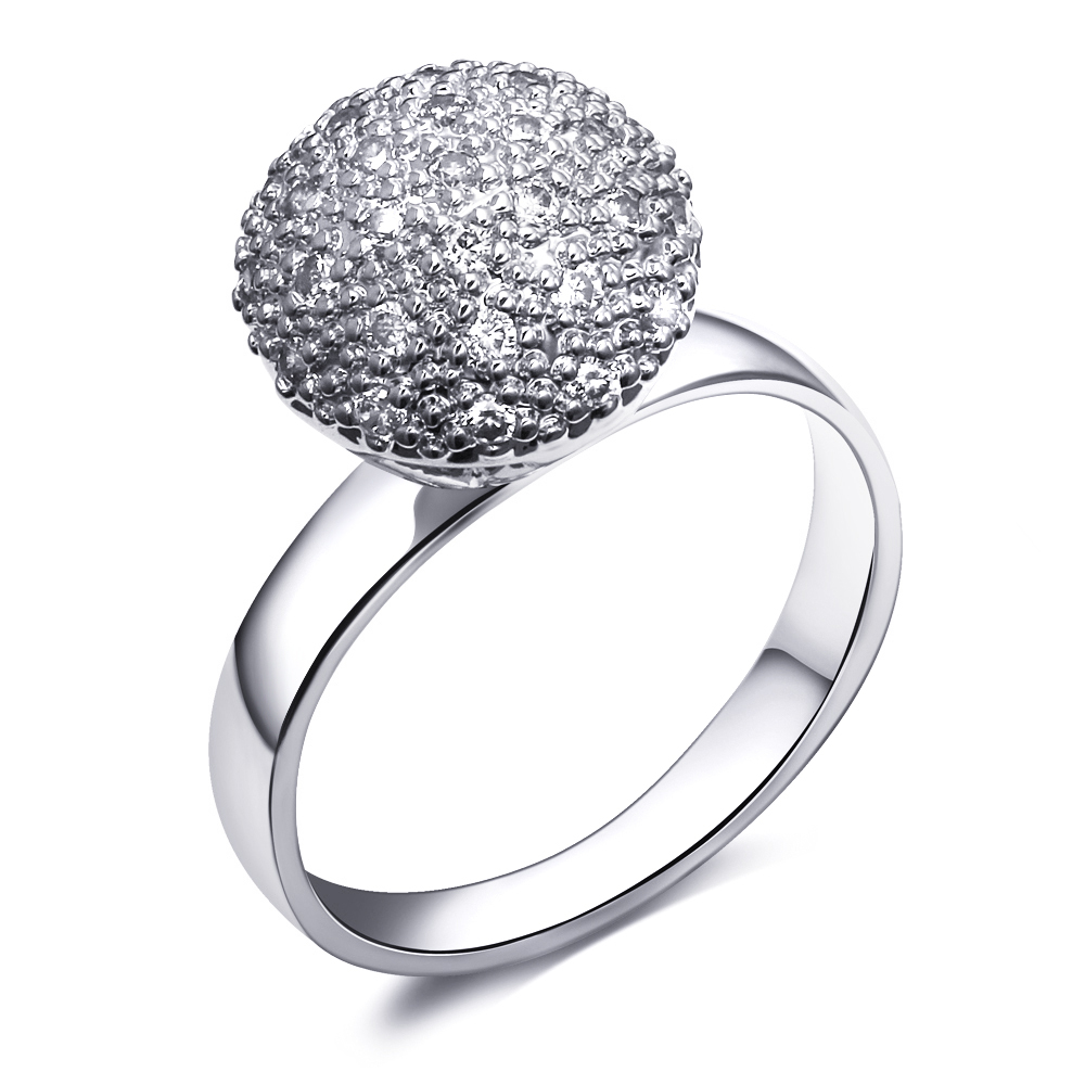 Gold ball ring Jewelry fashion rings gold plated 18k jewellery Luxury women's designer rings unique jewelry with cubic zirconia(China (Mainland))
