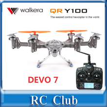 Christmas gift for men ! Walkera QR Y100 DEVO 7 transmitter FPV Hexacopter Drone Helicopter with Camera  DEVO 7 Transmitter RTF(China (Mainland))